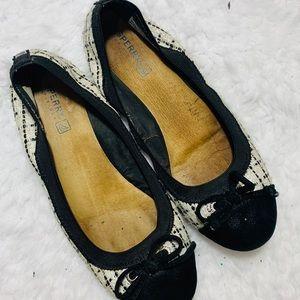 {SPERRY} Black & White Check Ballet Flats